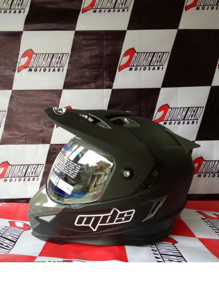 harga Helm mds super pro cross full face fullface black visor doff Tokopedia.com