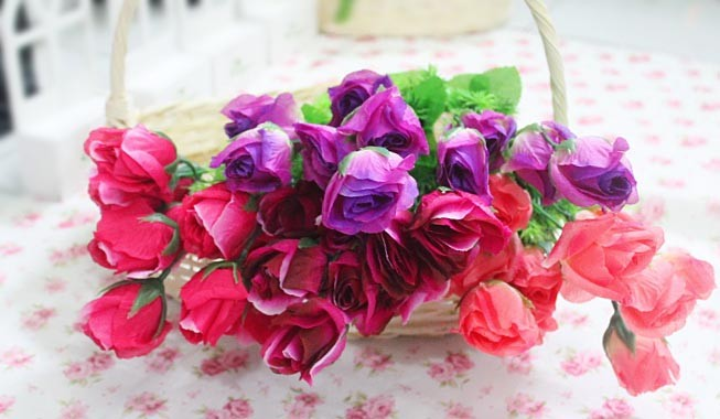 harga Buket bouquet bunga artificial rose ros mawar shabby chic pink peach Tokopedia.com