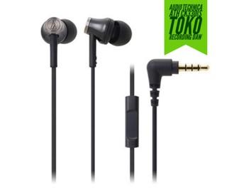 harga Audio Technica Ath-ck330is Bk Earphone With Mic For Call Tokopedia.com