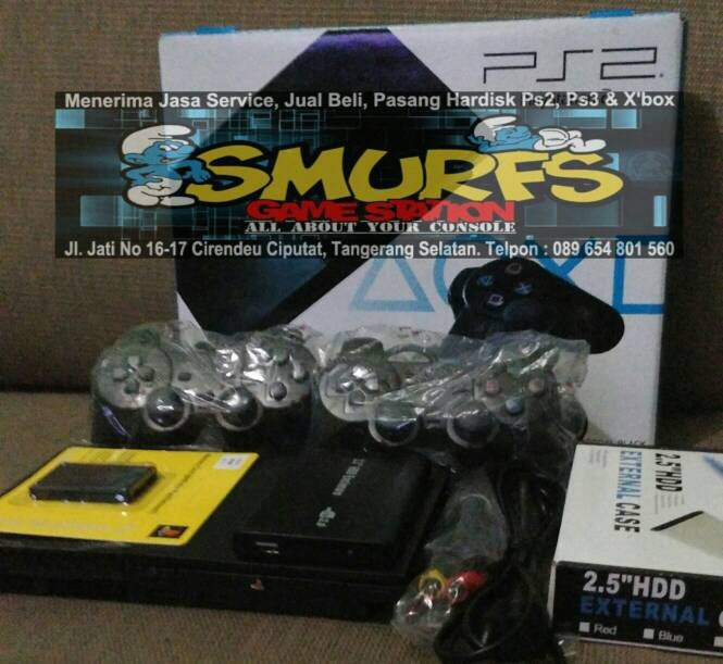 harga Playstation ps2 slim / ps2 fat hardisk eksternal 250gb full game new Tokopedia.com