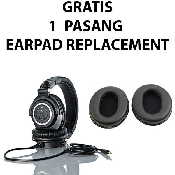 harga Audio technica ath-m50x   m50x - black Tokopedia.com
