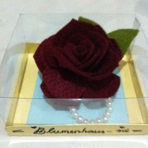 Jual Bros Bunga Mawar Simpel Elegan Blumenhaus Id Merah Hati