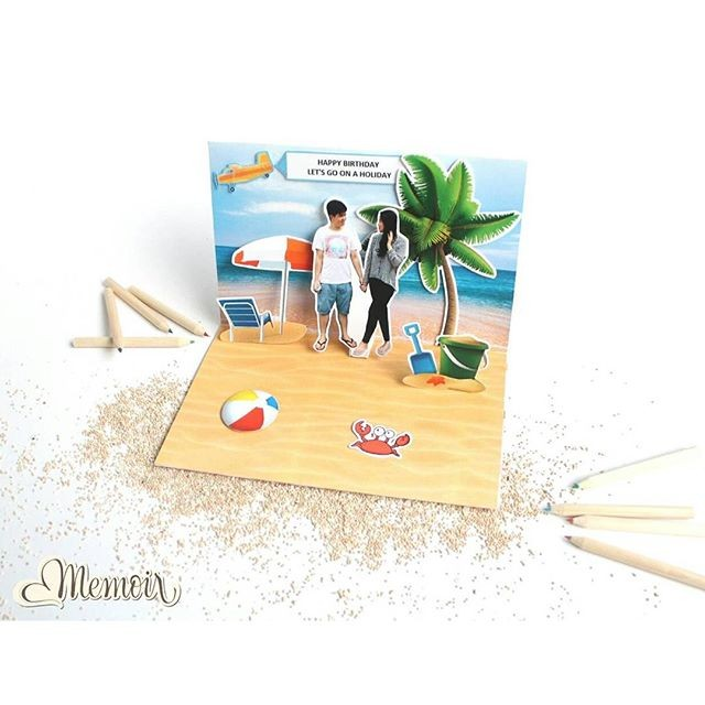Foto Produk Pop up card Scrapbook Memoir Kado unik dari Memoir - scrapbook maker