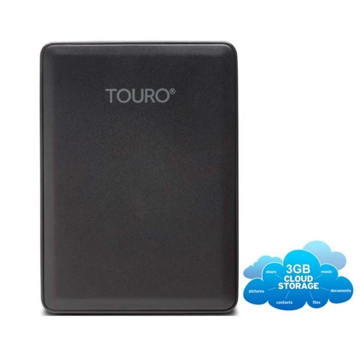 Hitachi HGST Touro 2TB New Portable USB 3.0 Hitam + 3GB Cloud Storage