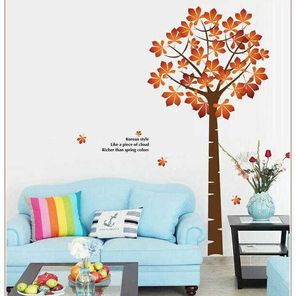 jual wall sticker / wall stiker / stiker dinding pohon ay202 - kota