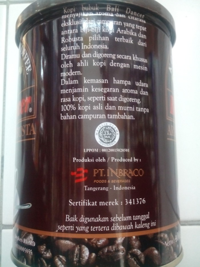 Jual Arabica Robusta Coffee Bali Dancer Berat Isi Tanpa Kaleng