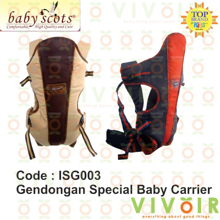 Jual GENDONGAN BAYI BABY SCOTS SPECIAL BABY CARRIER ISG-003 - Vivoir ... 20ef86de5e