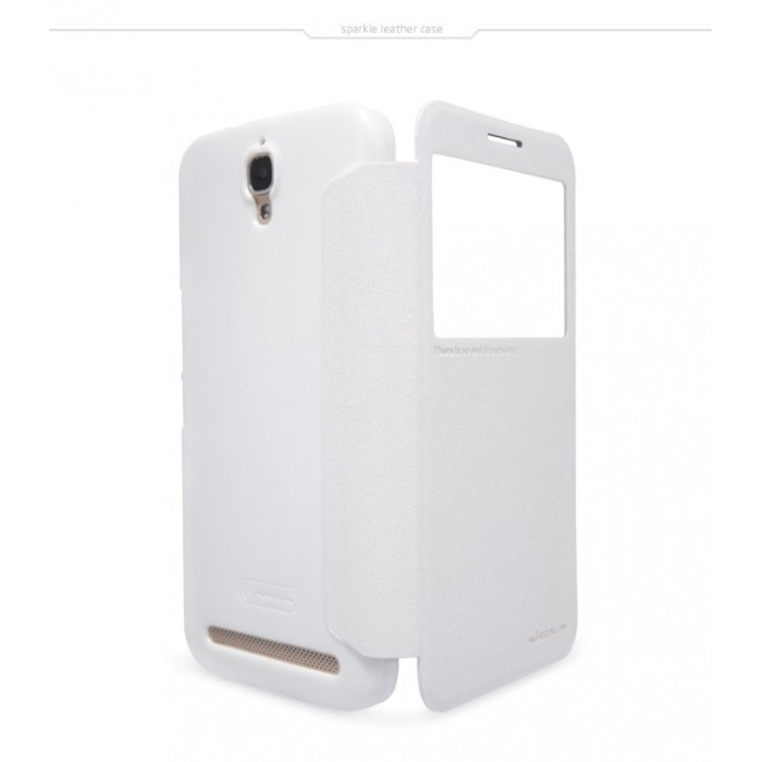Foto Produk Nillkin Sparkle Window Case for Alcatel One Touch Flash Plus - White dari choki tech