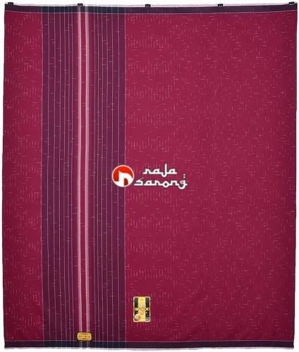 ... Sarung Wadimor Hujan Gerimis 777 002 Merah Marun