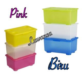 ... Ikea Glis Kotak dengan Penutup 3pc set