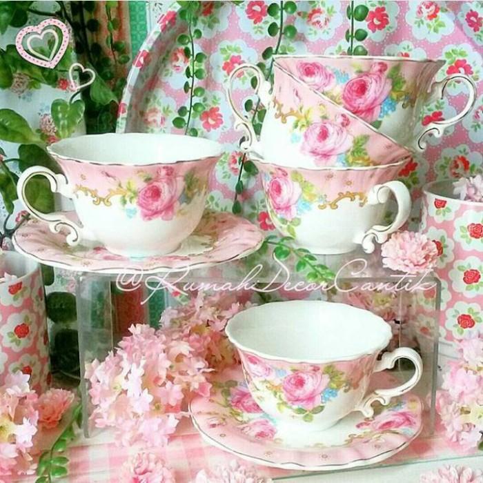 harga Teacup Teaset Cangkir Dapur Shabbychic Capodimonte Home Decor Tokopedia.com