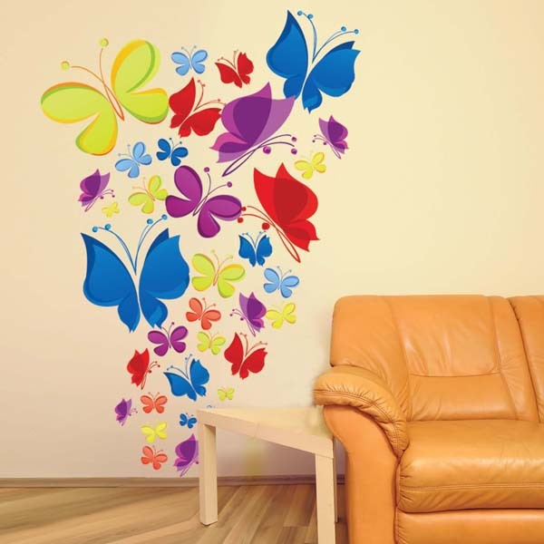 jual wall sticker butterfly - mw wall sticker denpasar | tokopedia