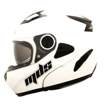 harga Helm mds pro rider flip up modular white fullface full visor Tokopedia.com