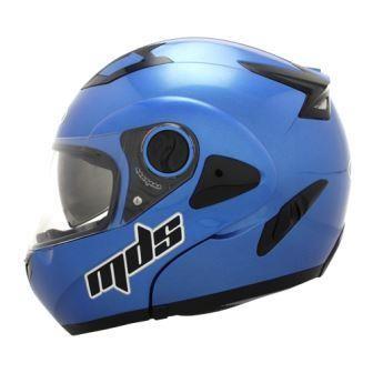 harga Helm mds pro rider flip up modular blue fullface full visor Tokopedia.com