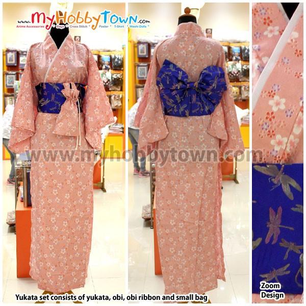 harga Yukata/kimono wanita : peach sakura Tokopedia.com
