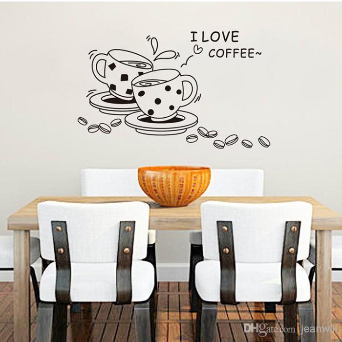 jual wall sticker 50x70/wallstiker transparan-jm8268-i love coffee