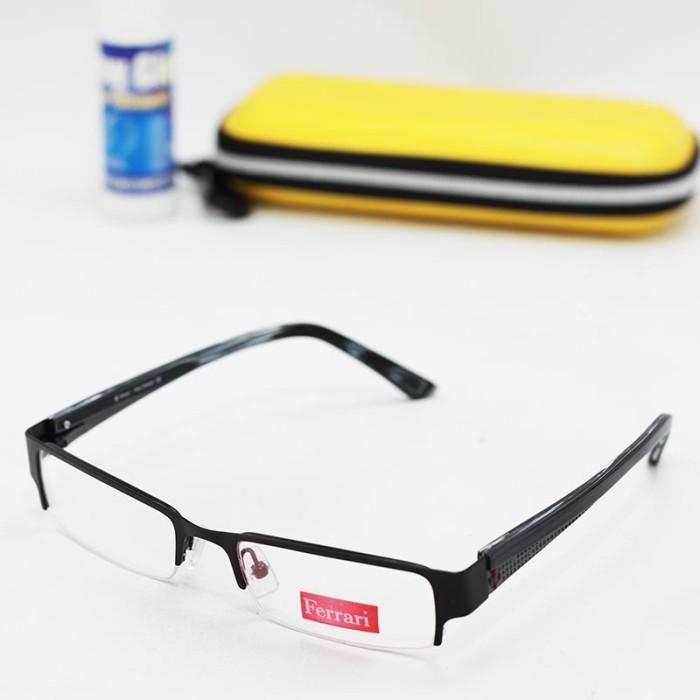 ... harga Kacamata cowo   pria frame ferrari 5033 hitam boxresleting  Tokopedia.com 767f4cff73