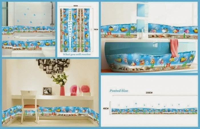 wallsticker wall stiker 50x70 AM7004 TRANSPARAN FISH LIST