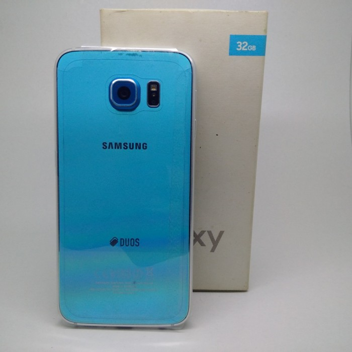 samsung galaxy s6 blue topaz. samsung galaxy s6 flat duos 32gb sm-g920 blue topaz 98% mulus fullset
