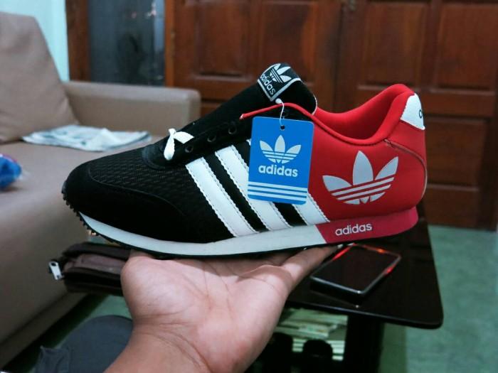 Jual Sepatu Adidas V Racer Classic Hitam Merah 02   sport casual ... 9555d2beb8