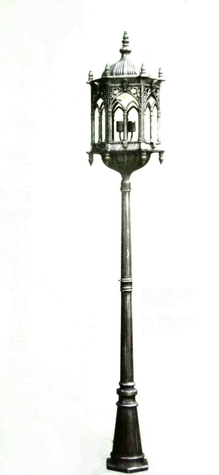 lampu taman tiang klasik antik body lampu jumbo L