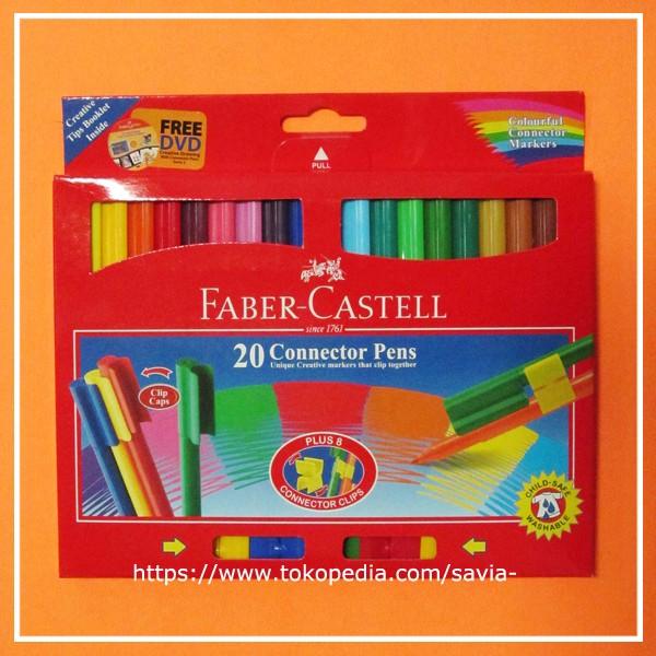 Jual Spidol Connector Pen 20 Warna Faber Castell Savia Tokopedia