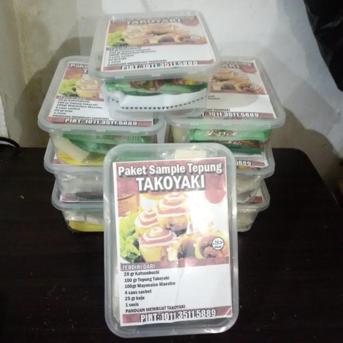 Paket Premix Takoyaki Komplit (tepung, saus dan katsuobushi)