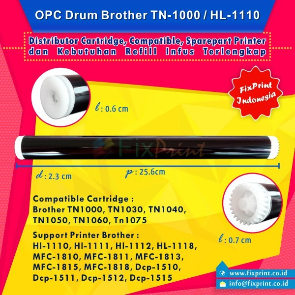 harga Opc drum brother hl-1110 hl-1111 hl-1112 hl-1118 Tokopedia.com