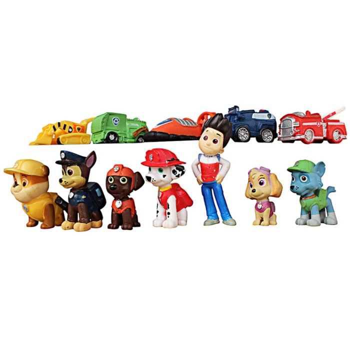 Mainan Anak PAW PATROL FIGURE ISI 12