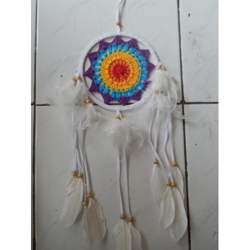 Foto Produk Dream Catcher Rajut Warna Ungu (18920) dari Jnanacrafts