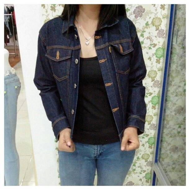 Jaket Jeans Wanita Jaket Denim Wanita Blue Black (Biru Kehitaman) 0ae19ba808