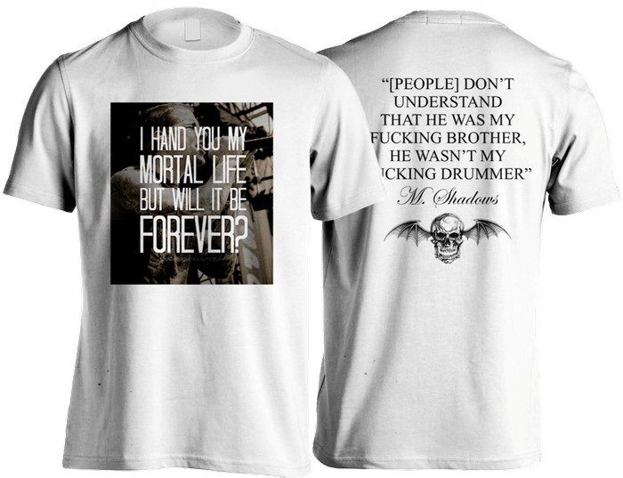 harga Kaos avenged sevenfold / drummer / tshirt a7x / putih Tokopedia.com