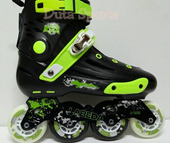 Jual Sepatu Roda LABEDA V5 Slalom Inline Skate ( Black Green ... 8f20693df3