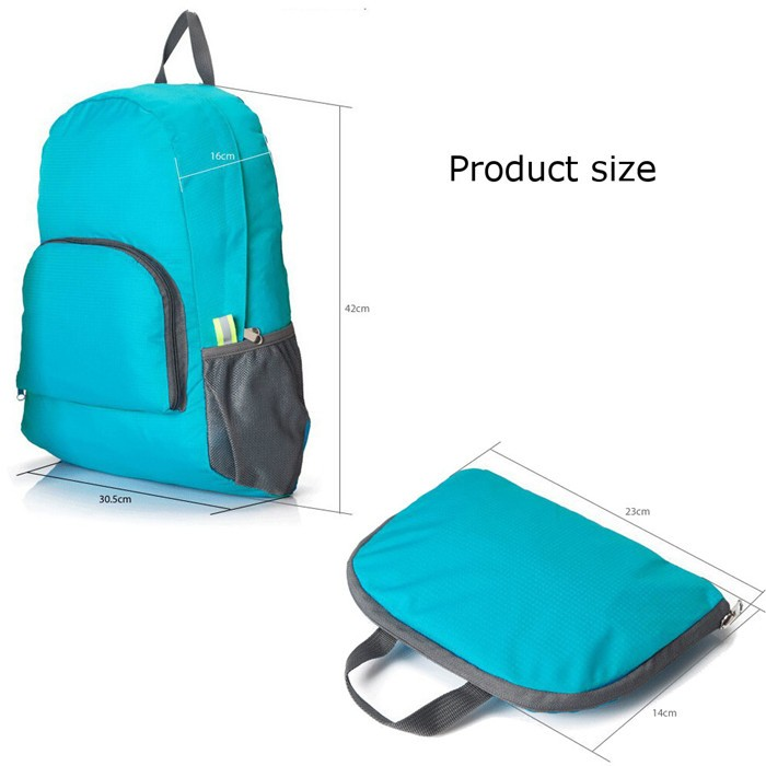 Foto Produk Foldable Backpack / Travel / Tas Punggung Lipat / Ransel Traveling - Biru dari Travelbuddy