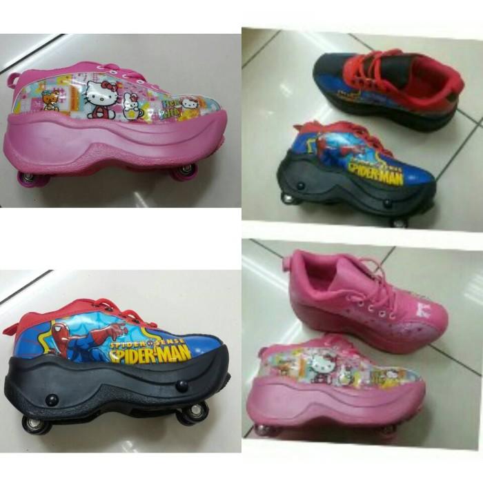 harga Sepatu roda spiderman dan hello kitty 4roda Tokopedia.com