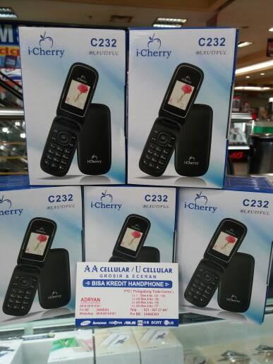 harga New i-cherry c232/dual sim/fm radio Tokopedia.com