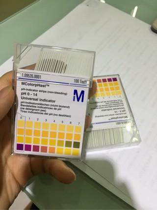 pH paper kertas pH lakmus Merck .
