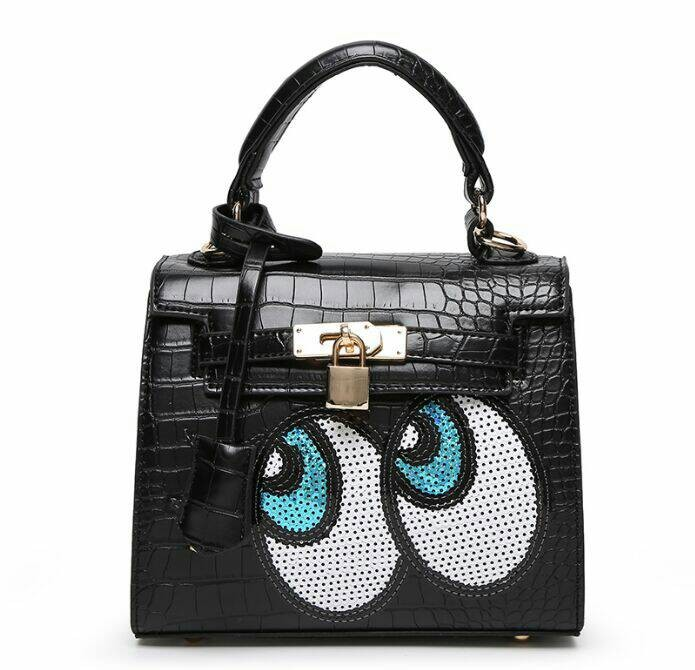 Jual Tas Hermes kelly eye mata kartun black hitam Fashion Import ... e2659e9a6e