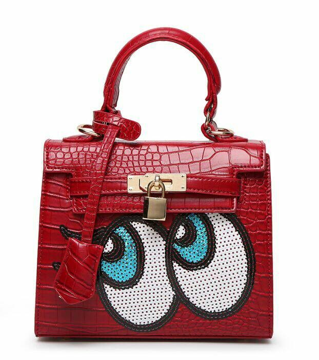 Jual Tas Hermes kelly eye mata kartun red merah Fashion Import ... cad69efe89