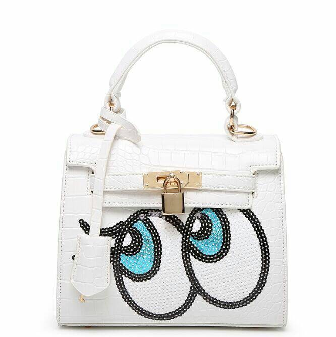 Jual Tas Hermes kelly eye mata kartun putih white Fashion Import ... e670fc00ff