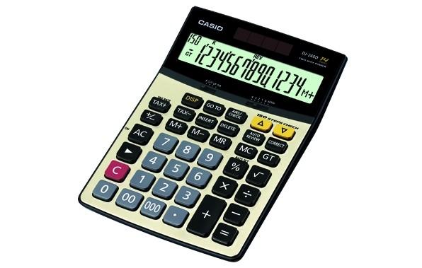 Foto Produk Kalkulator Calculator Casio DJ-240D DJ 240 D - Desktop Check 14 Digit dari Iyesh Online Store