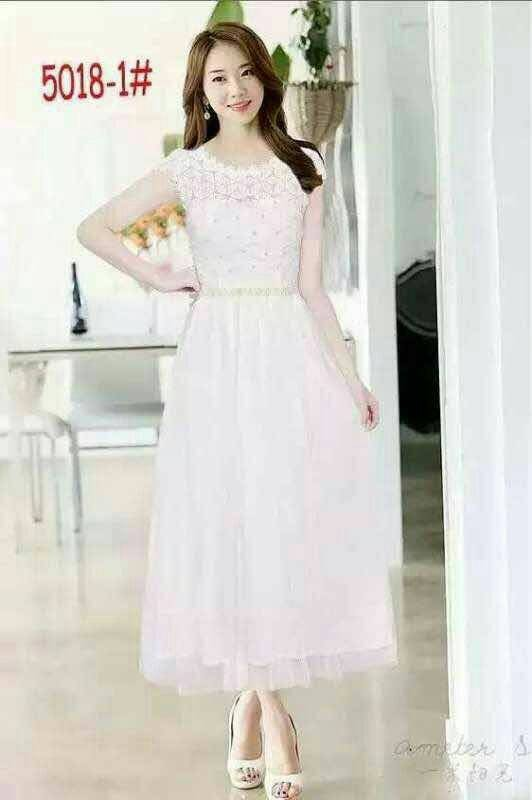 Jual Longdress Import Party Dress Longdress Tile Gaun Pesta Korea