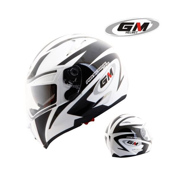 harga Helm gm airborne one full fullface visor airbone black white Tokopedia.com