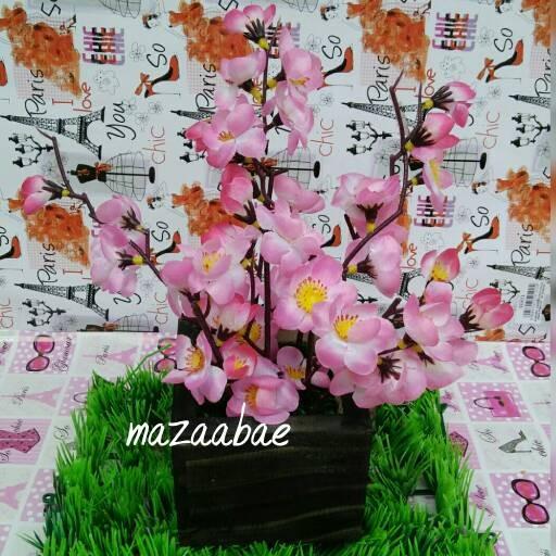 harga Buket bunga sakura artificial dan vas kayu cantik Tokopedia.com