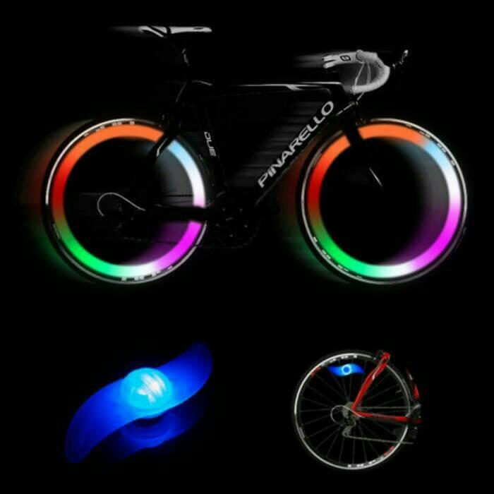 lampu jari - jari sepeda / lampu roda / ban sepeda biru