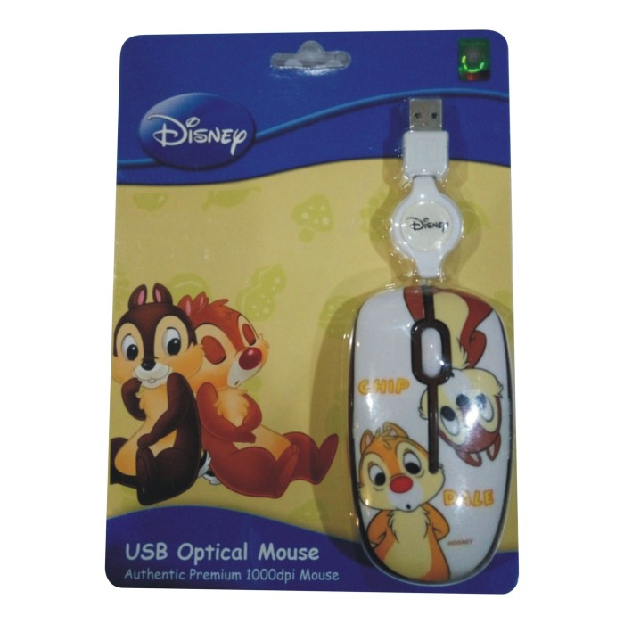 harga Disney mouse usb - chip and dale putih ( ds-om-cdj ) Tokopedia.com