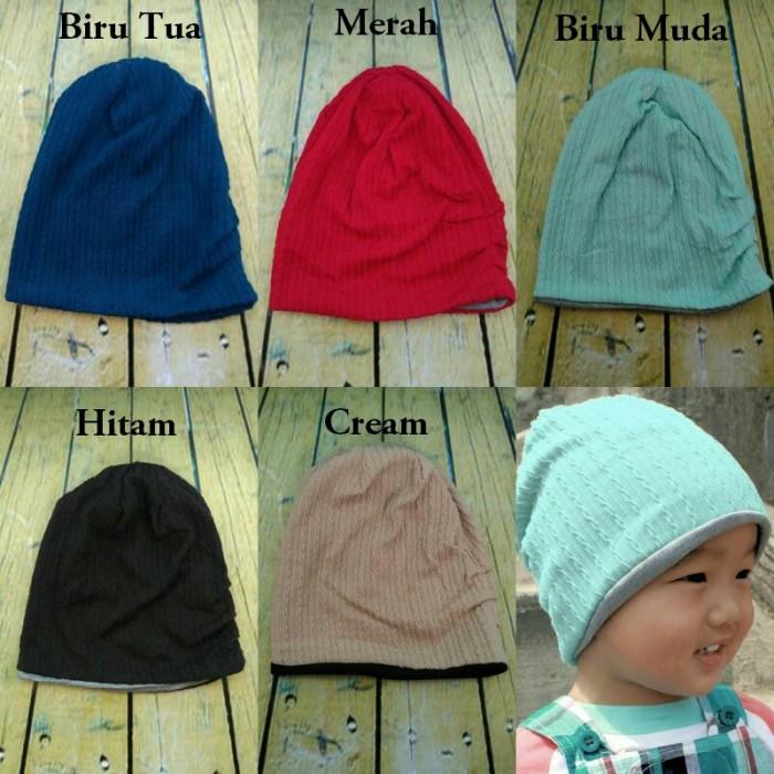 Topi Kupluk Bayi MJ Bolak Balik Murah/ Cute Korean baby hat
