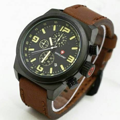 Swiss Army 3126 Leather Dark Brown