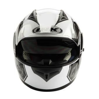 Helm INK CL-1 Hexagon Full Visor Fullface CL1 Black White Red Carbon 1