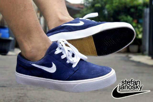 Sepatu Casual Skate Pria Nike Stevan Janosky Suede Blue